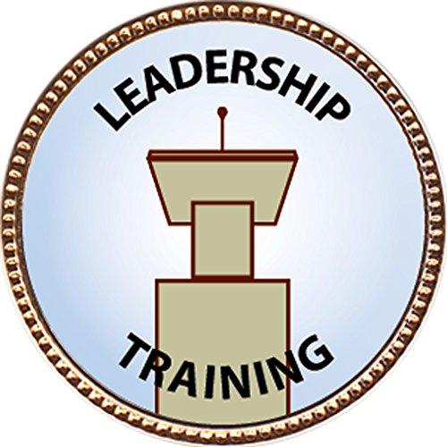 Leadership Training Award, 1 inch dia Gold Pin