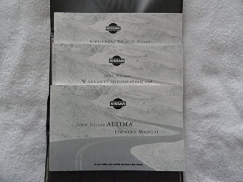 2000 nissan altima owners manual nissan amazon com books rh amazon com 2015 Nissan Altima 2008 Nissan Altima