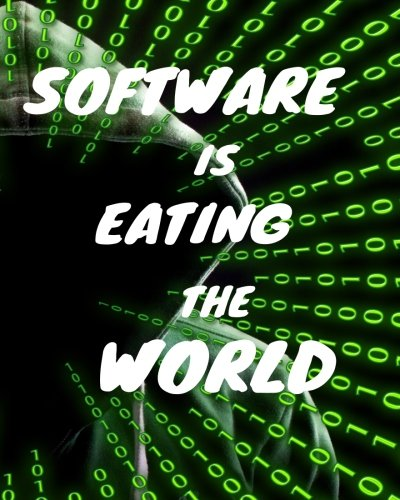Software Is Eating The World: Programing Journal, wide ruled Blank Journal, 150 Pages Collage Ruled A4 Notebook, coding journal