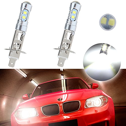 Hid Projector Fog Lights - CCIYU 2 Pack Super White 6000k H1 50W 6000LM CREE Car LED Xenon Fog HID Light DRL Driving Vehicle