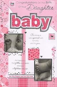 Tarjeta de el nacimiento de hija - 'de felicitación para el nacimiento de tu hija en la'