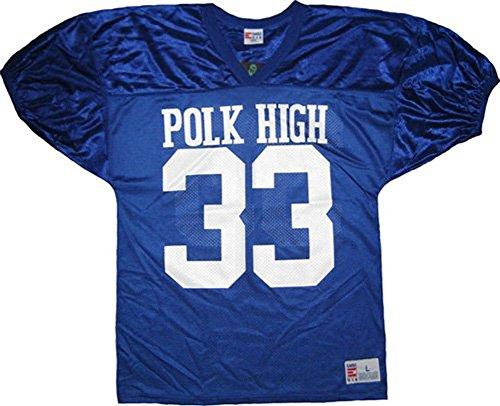 Married with Children Al Bundy Polk High 33 Blue Football Jersey Costume (Large) (Best High School Football Jerseys)