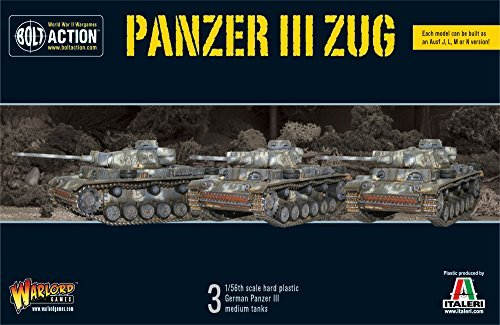 Tank Iii Panzer - Panzer III, Plastic Tanks Box Set, BOLT ACTION TANKS