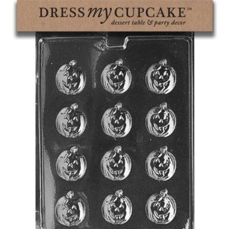 Dress My Cupcake DMCH007 Chocolate Candy Mold, Pumpkin Mints, Halloween -