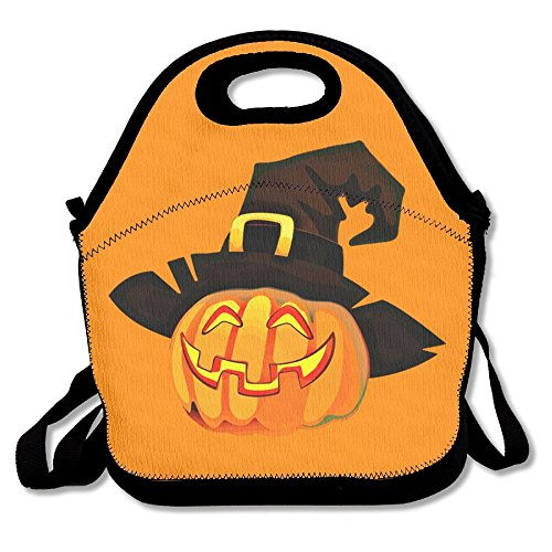 GT-0UJR Halloween Jack-o-lantern Lunch Tote Bag Picnic Lunchbox Lunch Tote Insulated Reusable Container Organizer For, Adults, Kids For School Work (Houston Halloween Trick Or Treat)