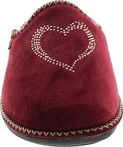 Europe Made Heart Bordo Cozy House Womens 12517 Collection Slippers SC in Plush Home wqP4UzS