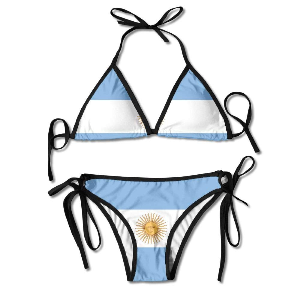 Osmykqe Argentina Flag Womens Sexy Bikini Set Beach Swimwear ...