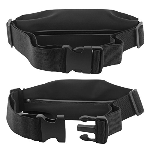 Sweat Resistant Exercise Storage Belt with Smartphone Clear Window