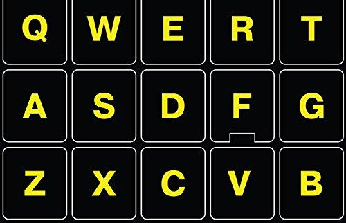 Glowing Reflective Fluorescent English US Lettering Keyboard Sticker