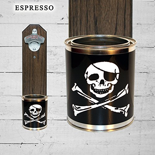 Father's Day Gift Wall Mounted Bottle Opener with Jolly Roger (Fathers Day Tin)