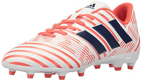 iz 17.4 FG W Soccer Shoe, White/Mystery Ink/Easy Coral, 8 Medium US ()