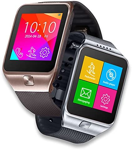 inDigi GSM Unlocked SmartWatch & Phone (Compatible w/Bluetooth for iOS & Android Devices)