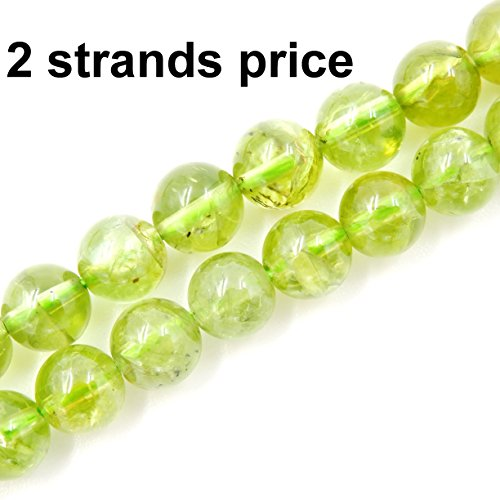 (Precious Gemstone Beads for Jewelry Making, 100% Natural AAA Grade, Sold per Bag 2 Strands Inside (Peridot, 4mm))