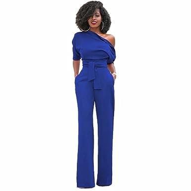 Jumpsuit Longue Jupe Combinaison Epaule Bustier Look Bleu New Nue qxU8xF