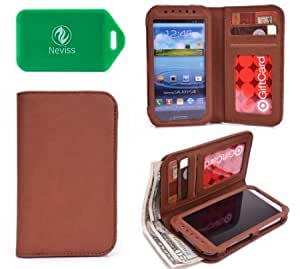 Acer neoTouch P400 UNISEX Phone case w/wallet in BROWN