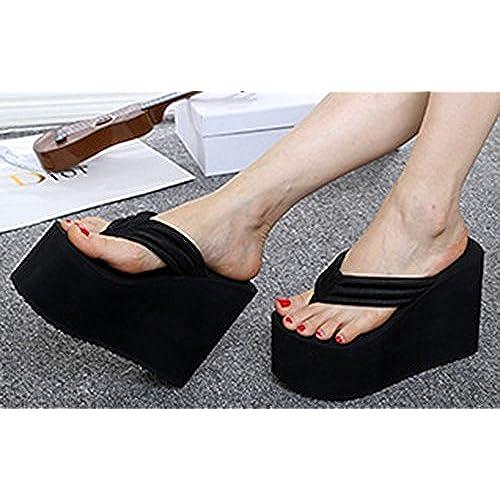 ee8b7c691f2 hot sale 2017 IDIFU Women s Comfy Wedge Platform Thong Sandals With Heels  Beach Holiday Summer Flip