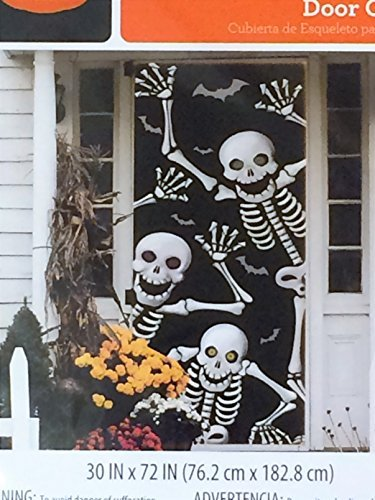 Skeleton Door Cover - Halloween Wall Decoration]()