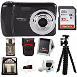 Vivitar ViviCam VXX14 Selfie Digital Camera with 32GB Card Bundle Kit - Black