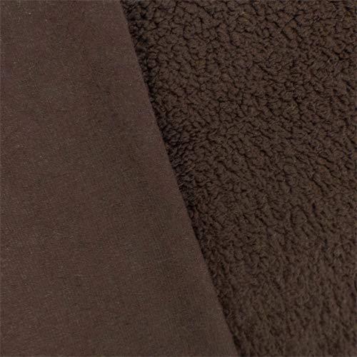 Chocolate Brown Single-Sided Berber Fleece, Fabric by The Yard