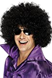 Smiffys Men's Mega-Huge Black Afro Wig, One Size, 5020570420348