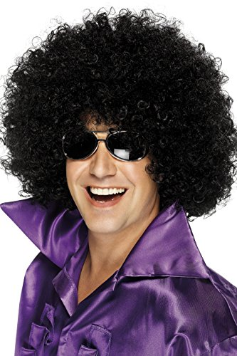 Smiffys Men's Mega-Huge Black Afro Wig, One Size, 5020570420348 for $<!--$7.88-->