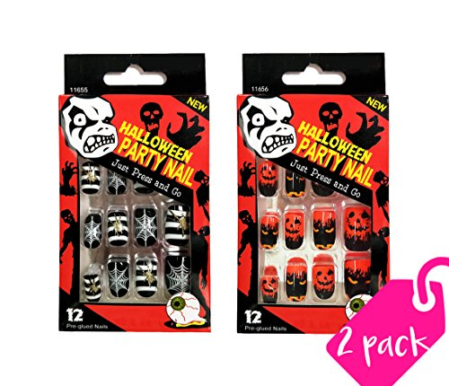 Beautia Artificial false nails Adult Halloween Party Nails Fake Nails 11655/11656