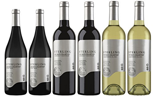 Sterling Vintners Collection Wine Tasting Flight Mixed Pack, 6 x 750 mL