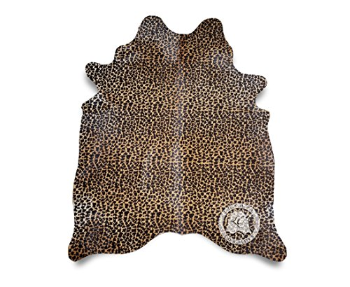 Leopard Cowhide Rug 5 ft x 7 ft 150cm x 210 cm - Top Quality Animal Print - Leopard Cowhide