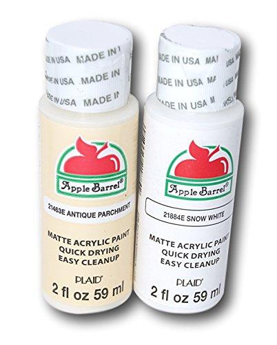 Apple Barrel Acrylic Paint Set - Antique Parchment & Snow White (2 Ounces Each) -  Plaid Enterprises Inc