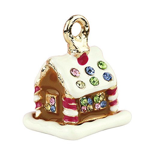 Gingerbread House Charm (Creative DIY Gingerbread House Charms Pendants Wholesale (Set of 3) MH172)