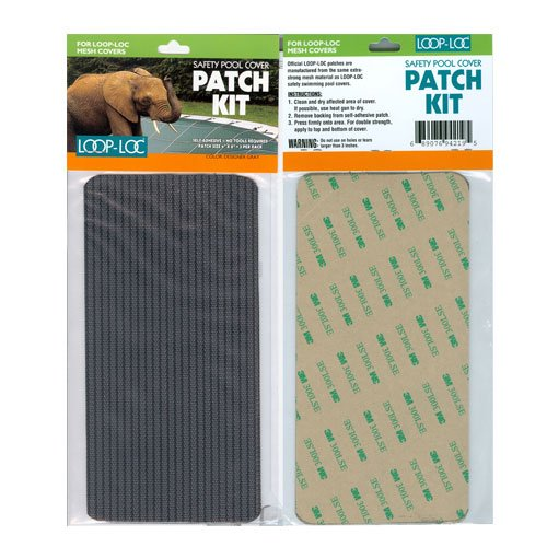 Loop-Loc Safety Cover Patch Kit - Gray Mesh