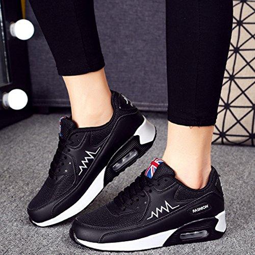 Gym Femme Air Course Padgene Sport Noir Fitness Baskets Classique Chaussures d0tdwq