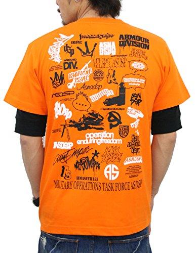ピクニックをする忠実にモバイル(アスナディスペック) ASNADISPEC メンズ tシャツ 大きいサイズ 半袖 History プリント ロゴtシャツ asst2222