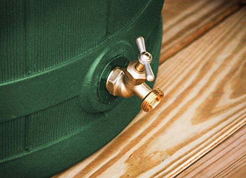 Good Ideas RW50-GRN Rain Wizard Rain Barrel 50-Gallon, Green