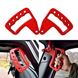 IPARTS NEW Aluminum Front Red Grab Handle for Jeep Wrangler JK JKU Unlimited Rubicon Sahara X Off Road Sport Interior Accessories Parts 2007 2008 2009 2010 2011 2012 2013 2014 2015 2016 2017