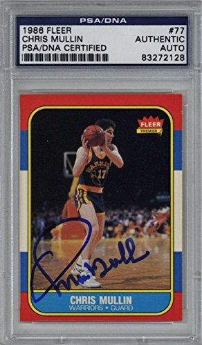 - Chris Mullin Signed Autographed 1986 Fleer Basketball Card Auto - PSA/DNA Certified - Unsigned Basketball Cards