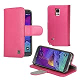 Samsung galaxy note 4 case - KAYSCASE Synthetic Leather Book Cover Wallet Case with Slim Soft Gel Case for Galaxy Note 4 Smartphone Cell Phone, 2014 Version (Pink)