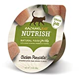 Rachael Ray Nutrish Natural Wet Cat Food, Chicken Purrcata, Grain Free, 2.8 oz tub, Pack of 24