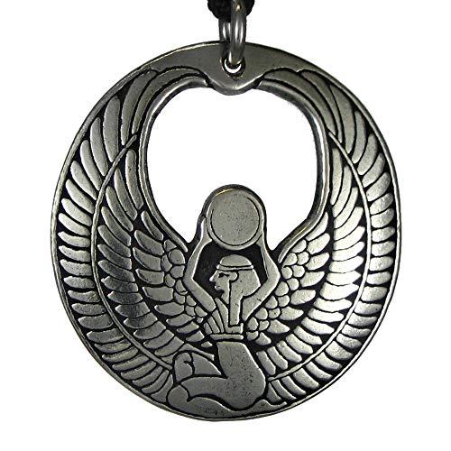 Pewter Egyptian Goddess of Magic Isis Pendant ()