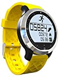 F69 Sprots smart Watch IP68 Fitness Tracker Bracelet Heart Rate Monitor Swimming Wristband for IOS Android , yellow