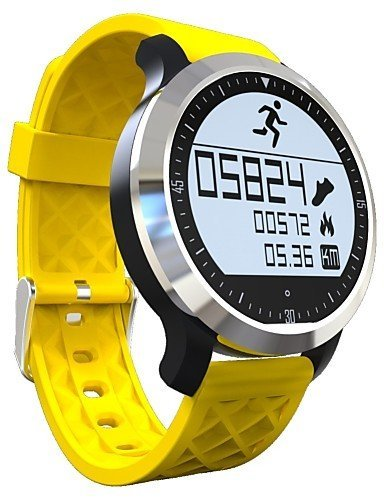 F69 Sprots smart Watch IP68 Fitness Tracker Bracelet Heart Rate Monitor Swimming Wristband for IOS Android , yellow by FMSBSC