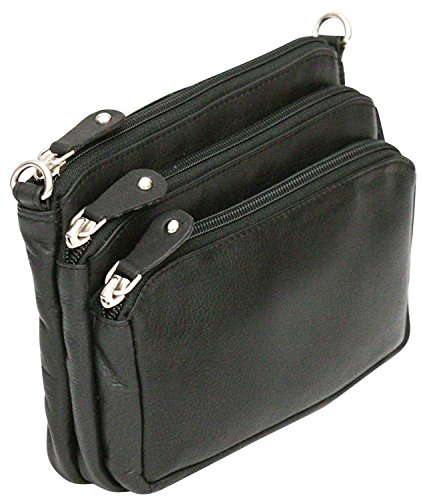 Ladies Genuine Adjustable Leather Strap Bag Cross Felda Body Black Bum Shoulder d6qwg5B