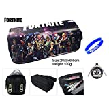 Famous Game Fortnite Print Canvas Pencil Case Bags for School Boys Stationery