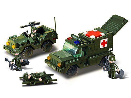 "Price comparison product image Sluban Ambulance ""Army"" Building Kit (229 Pieces)"
