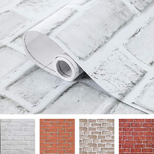 Coavas White Brick Wallpaper
