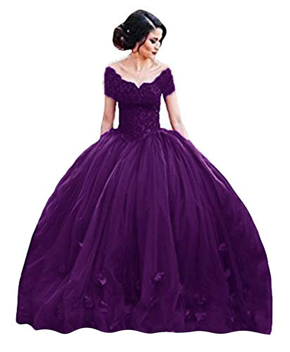 The Peachess 2019 Ball Gown Princess Quinceanera Dresses Lace Bodice