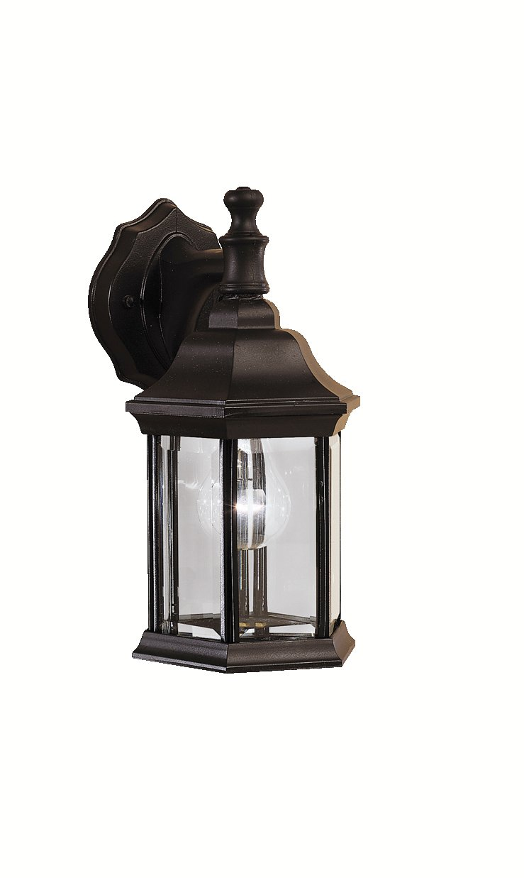 kichler lighting bk chesapeake outdoor sconce black  wall  - kichler lighting bk chesapeake outdoor sconce black  wall porchlights  amazoncom