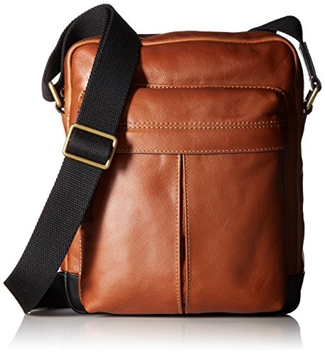 Price comparison product image Fossil Men's Defender Small Messenger Colorblock, Brown