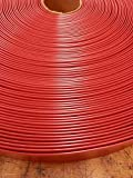 LEMBERG 2″ Wide 100′ Length Chair Vinyl Strap Strapping for Patio Lawn Garden Outdoor Furniture Matte Finish Color (Red)