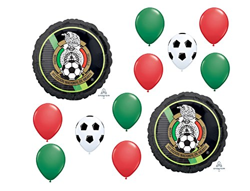 New Mexico Balloon - 12pc new BALLOON set MEXICAN NATIONAL SOCCER TEAM seleccion nacional de mexico PARTY FAVORS decorations globos